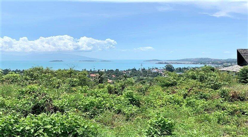 A vendre terrain à Bangrak Koh Samui vue mer 03