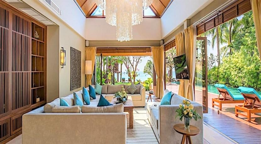 A vendre villa bord de mer à Lipa Noi Koh Samui – 5 chambres – piscine