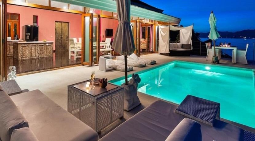 A vendre villa vue mer – Plai Laem – Koh Samui – 3 chambres – piscine