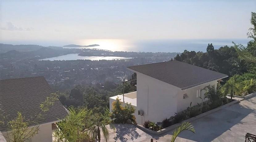 Villa autonome vue mer à Chaweng Koh Samui – 3 chambres – à vendre