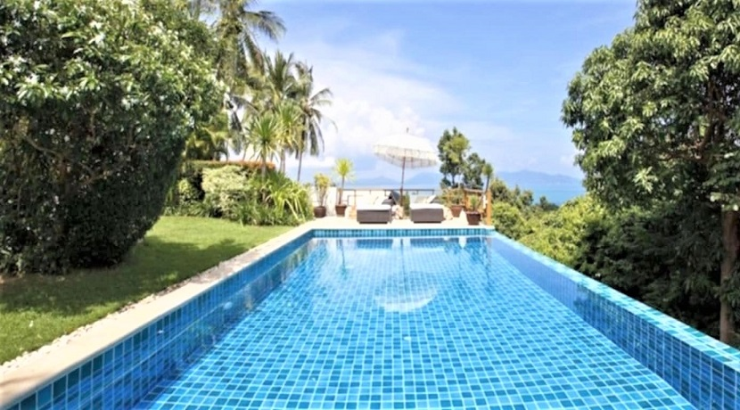 Villa vue mer à Bophut Koh Samui à vendre – 4 chambres – piscine privée