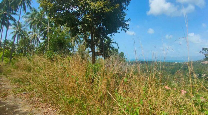 Terrain vue mer à Maenam Koh Samui à vendre 05