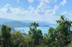 Terrain vue mer constructible à vendre à Bangrak Koh Samui