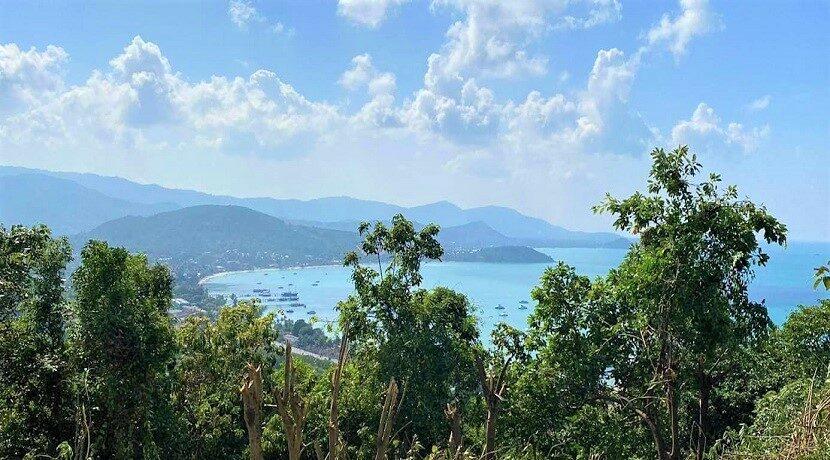 Terrain vue mer constructible à vendre à Bangrak Koh Samui 01
