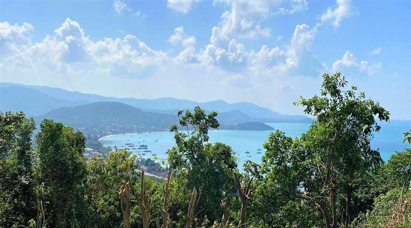 Terrain vue mer constructible à vendre à Bangrak Koh Samui – 1600 m²