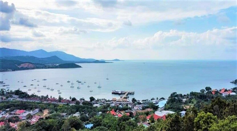 Terrain vue mer constructible à vendre à Bangrak Koh Samui 02