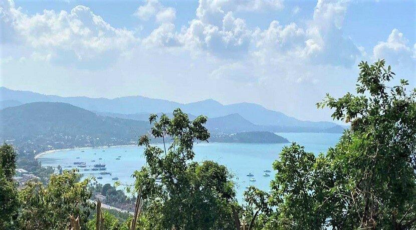 Terrain vue mer constructible à vendre à Bangrak Koh Samui 05