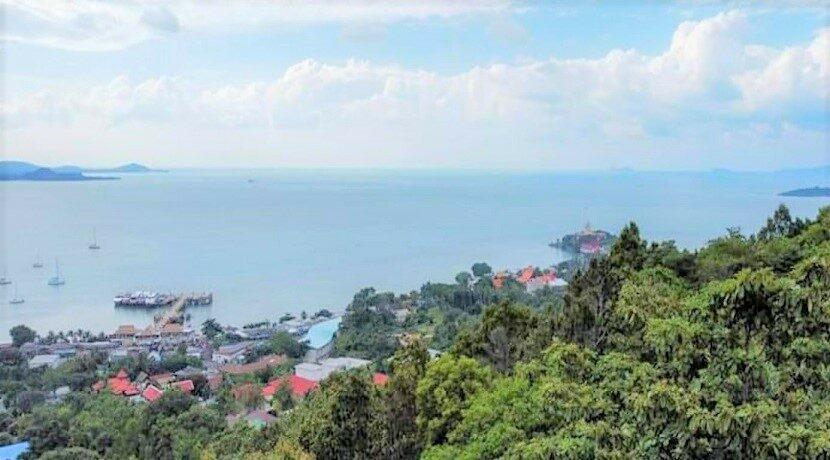 Terrain vue mer constructible à vendre à Bangrak Koh Samui 06