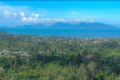 Terrain Bophut Koh Samui vue mer à vendre