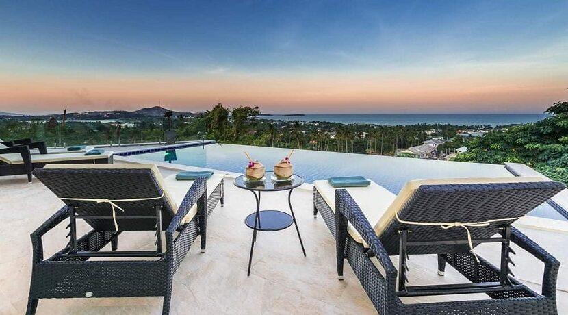 Villa vue mer Chaweng à Koh Samui à vendre 01