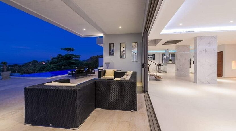Villa vue mer Chaweng à Koh Samui à vendre 014B