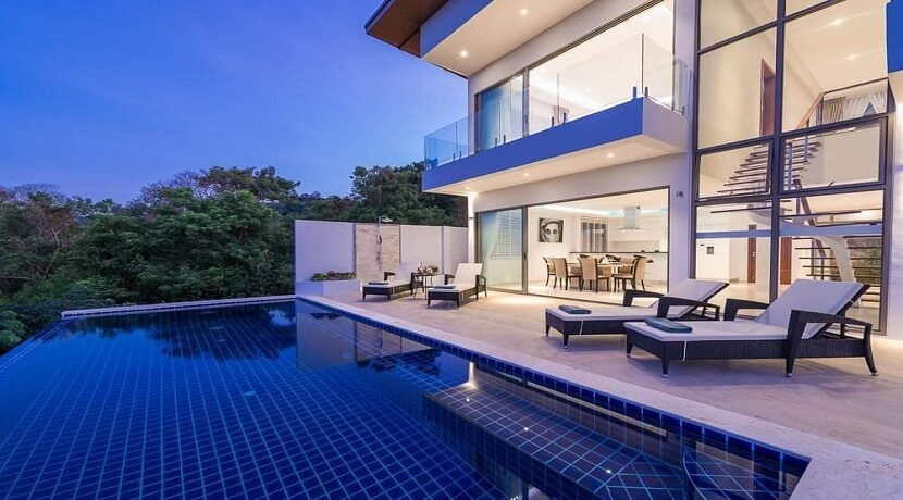Villa vue mer Chaweng à Koh Samui à vendre 027