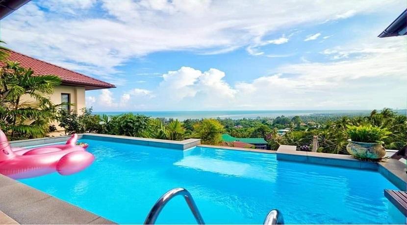 Villa vue mer à Lamai Koh Samui à vendre – 3 chambres avec piscine