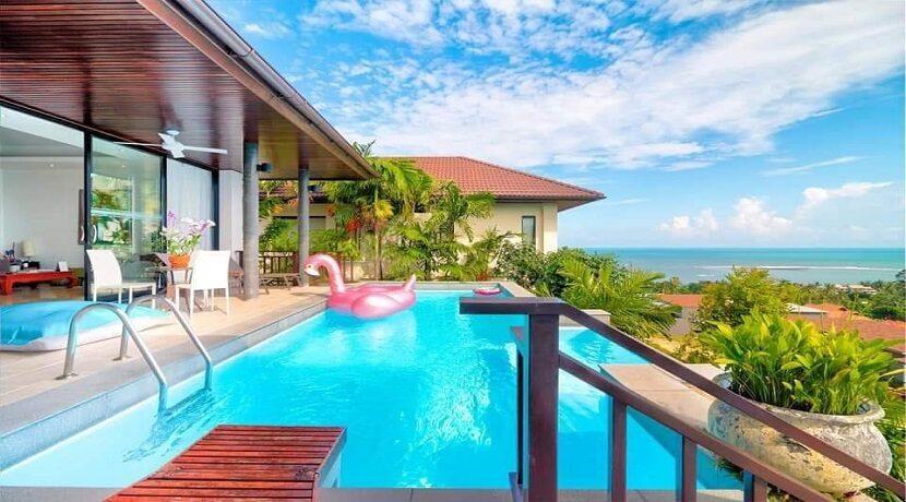 Villa vue mer à Lamai Koh Samui à vendre 03
