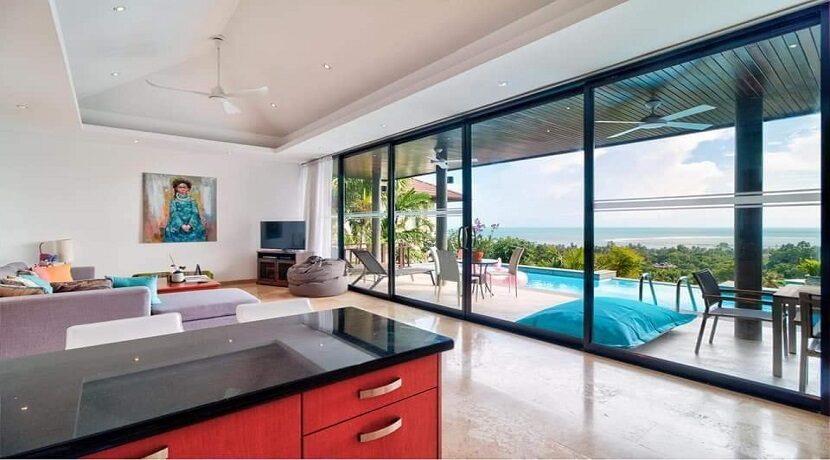 Villa vue mer à Lamai Koh Samui à vendre 05